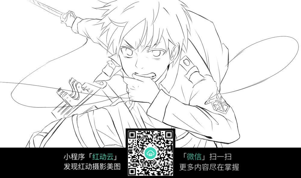 日本漫画素描少年图片漫画写实图片