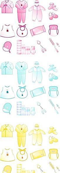 婴儿服饰手绘画