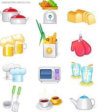 饮食类立体图标设计
