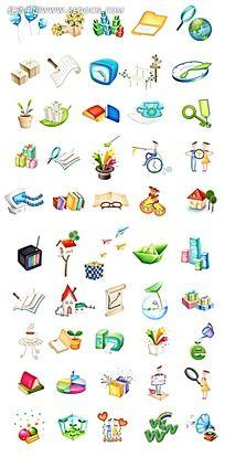 衣食住行立体图形其他免费下载 公共标志素材