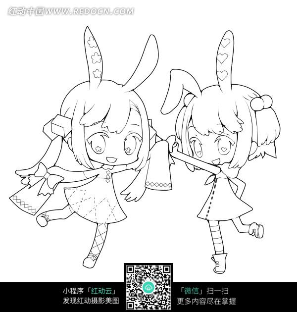 q版卡通少女_人物卡通图片