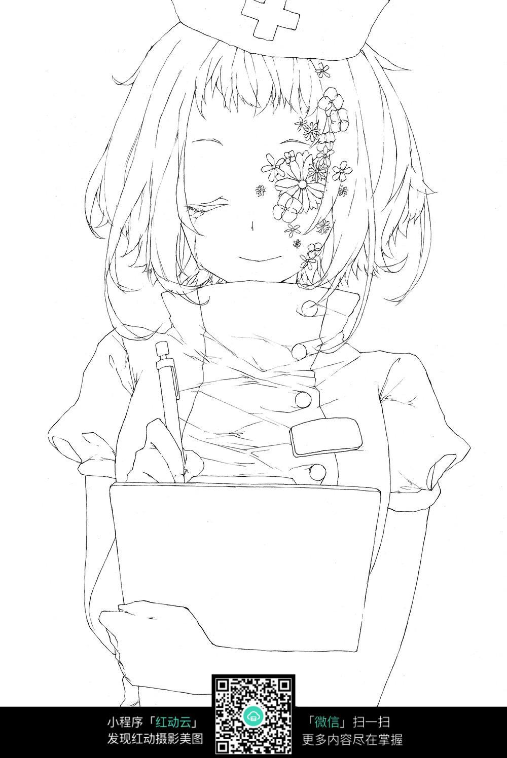 动漫人物角色护士