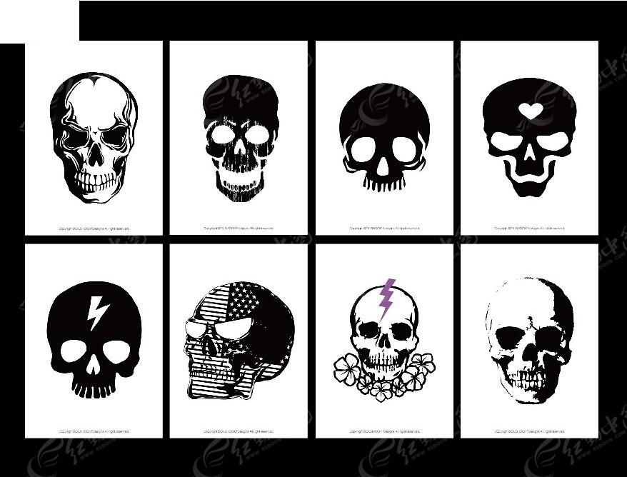 黑白骷髅头图形设计图片