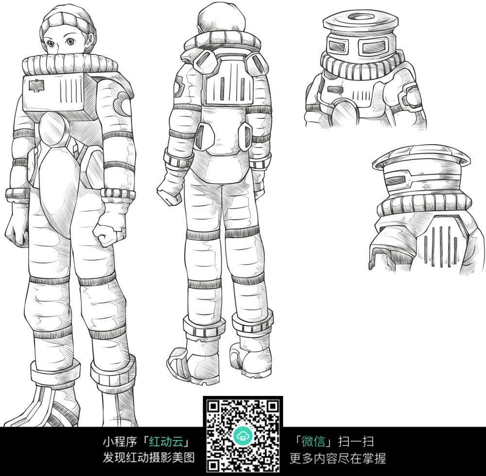 机器人漫画线稿
