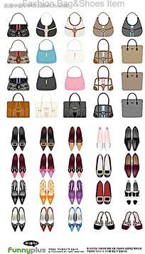 女士手提包高跟鞋手绘画集