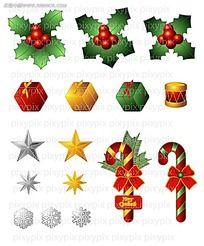 圣诞立体小图标设计