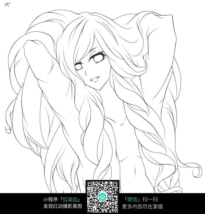 长头发性感女孩