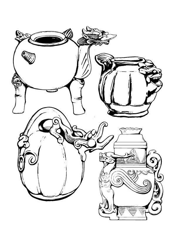 古代酒壺紋樣