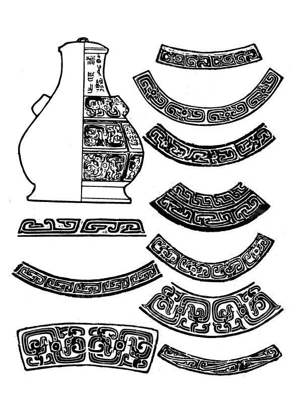 古代器皿装饰花纹AI免费下载 传统图案素材