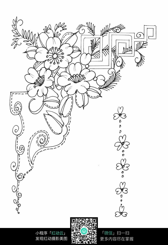 古典花卉装饰边框素材