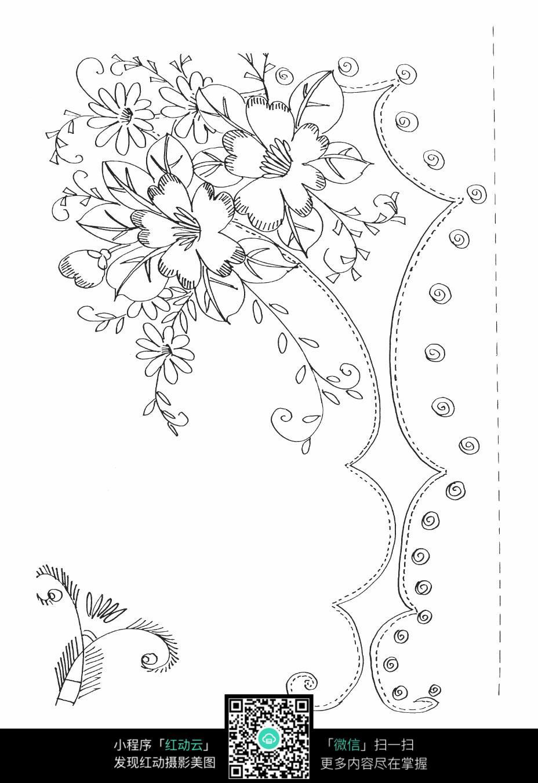 手绘图片花卉铅笔画