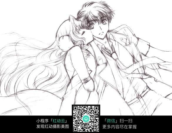 好看的情侣手绘简笔画