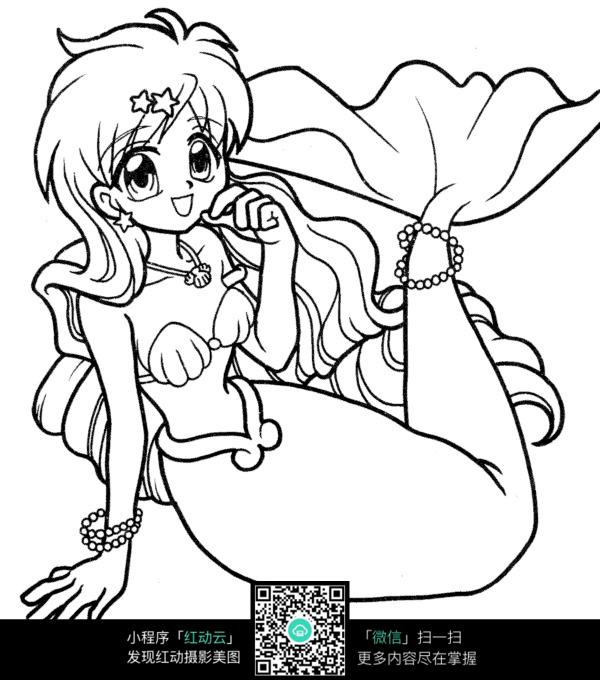 可爱的动漫人物美人鱼图片 人物卡通图片
