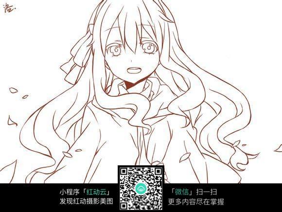 动漫 简笔画 卡通 漫画 手绘 头像 线稿 580_436