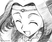 手绘卡通人物之开心微笑的小公主