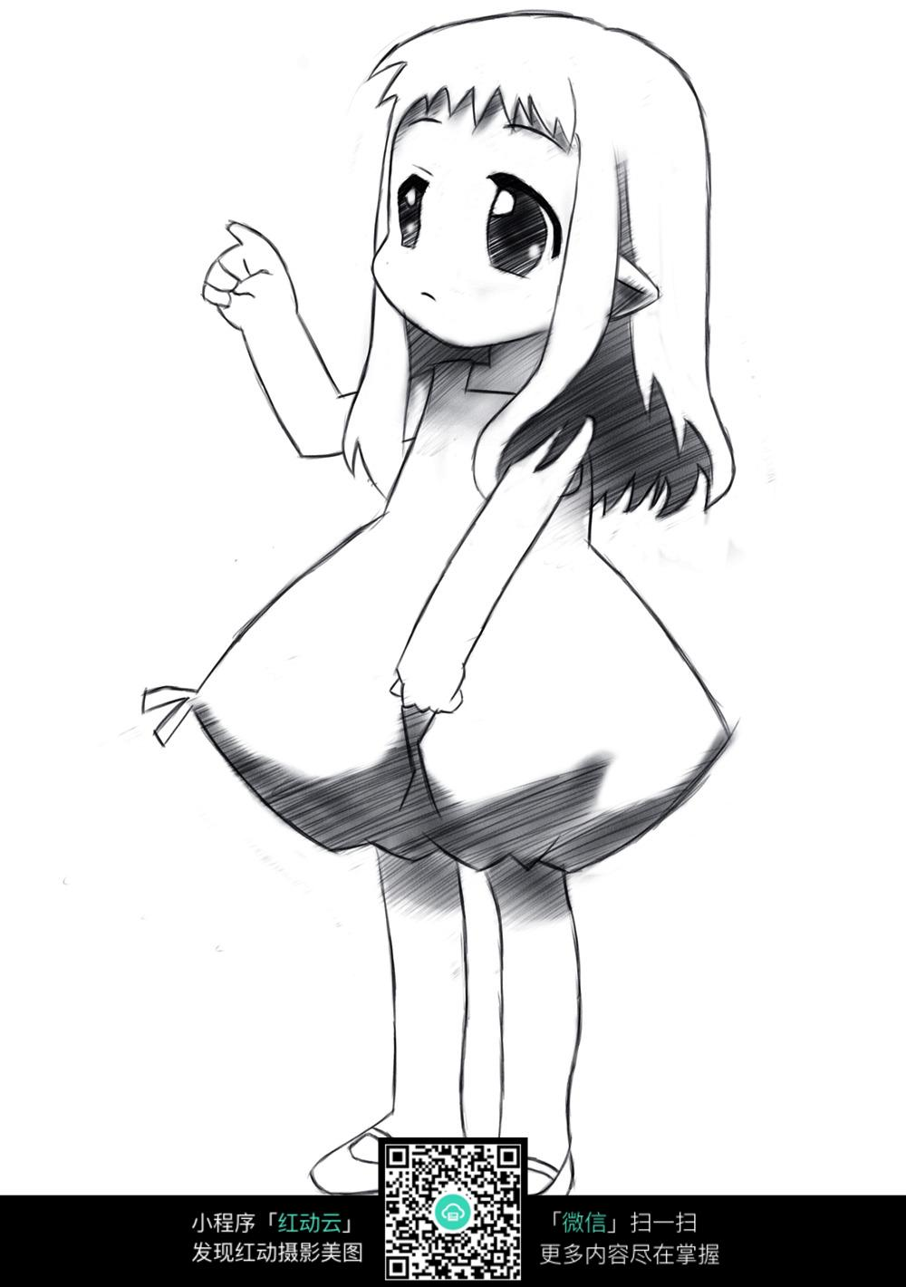 动漫 简笔画 卡通 漫画 手绘 头像 线稿 1000_1420 竖版 竖屏