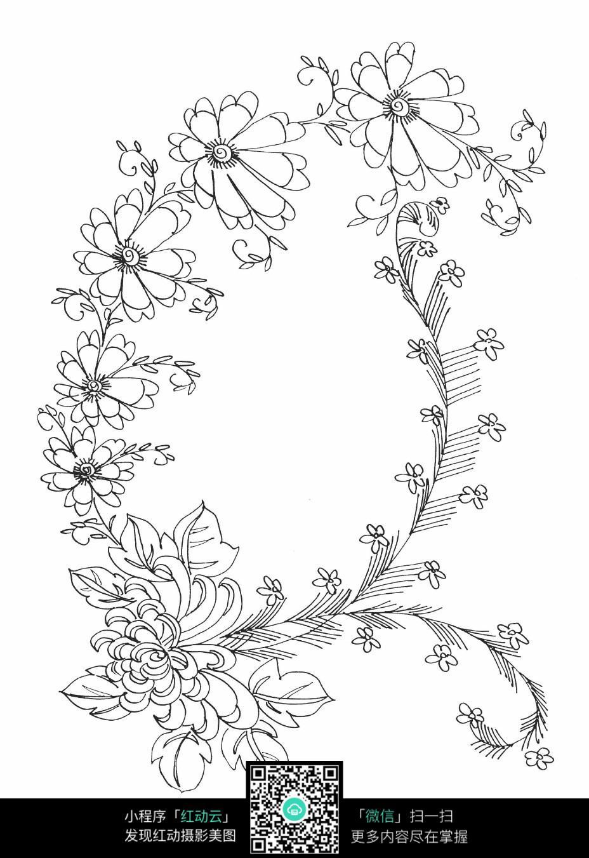 太阳花装饰底纹素材