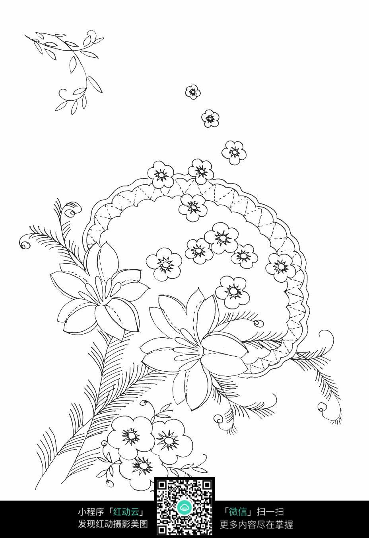 桃花装饰边框素材
