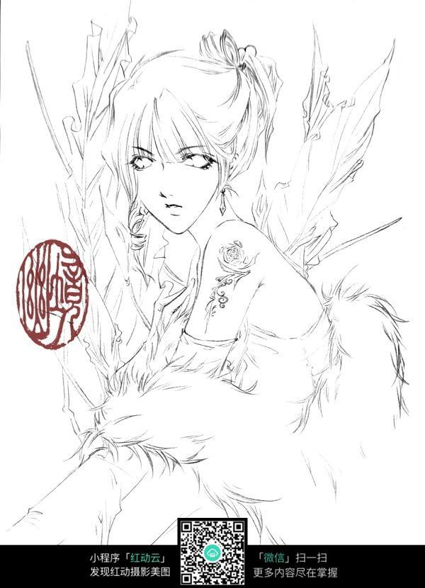 免费素材 图片素材 漫画插画 人物卡通 妖媚女人动漫角色