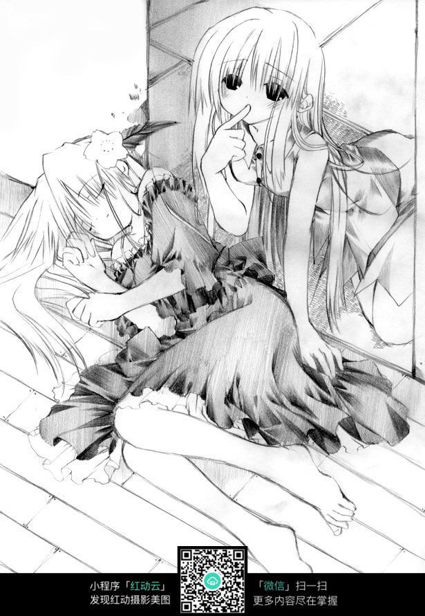 晕倒的女孩动漫人物图片