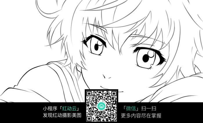 卡通大眼睛的男孩图片