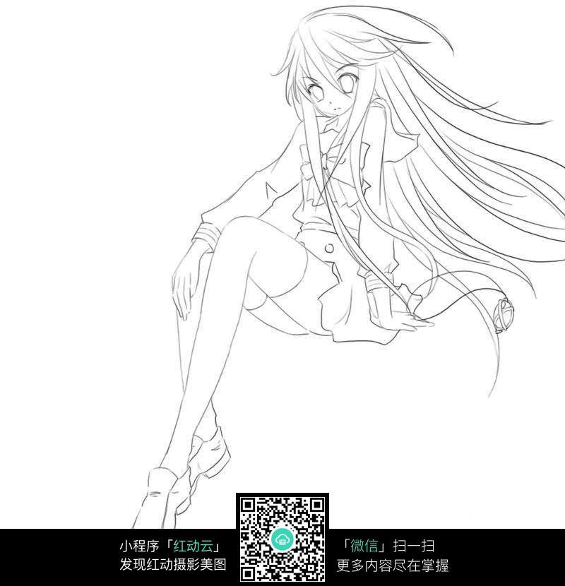 卡通美少女_人物卡通图片