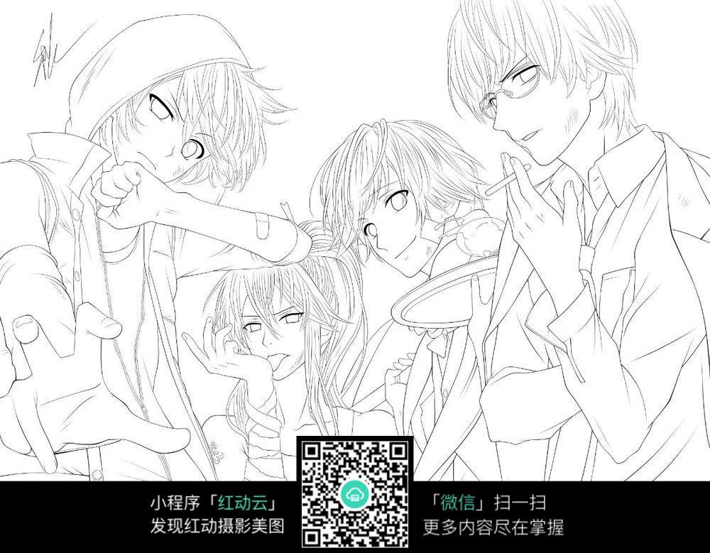 日本漫画卡通人物组合