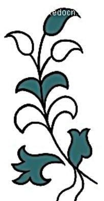 手绘卷草花纹图案