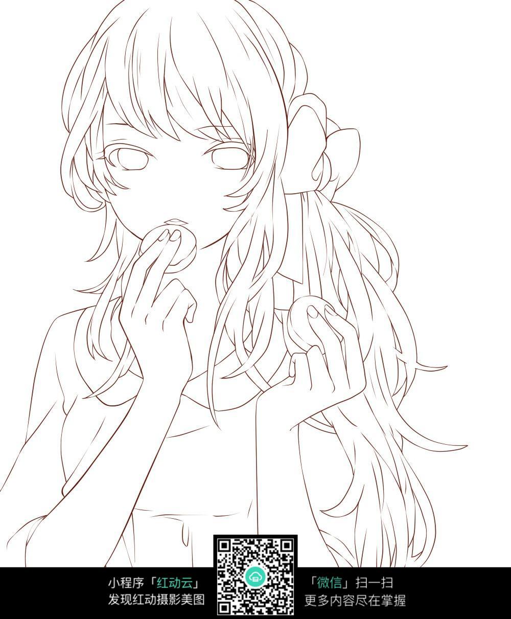 吃饼干的女孩子