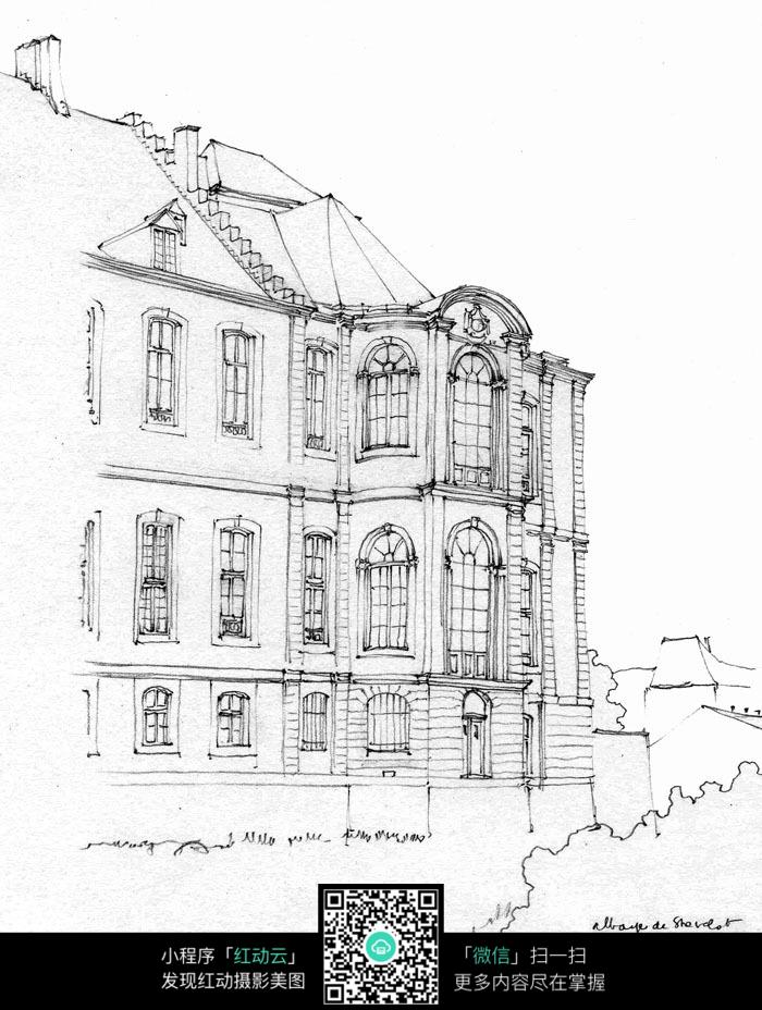 房屋建筑外部结构草图