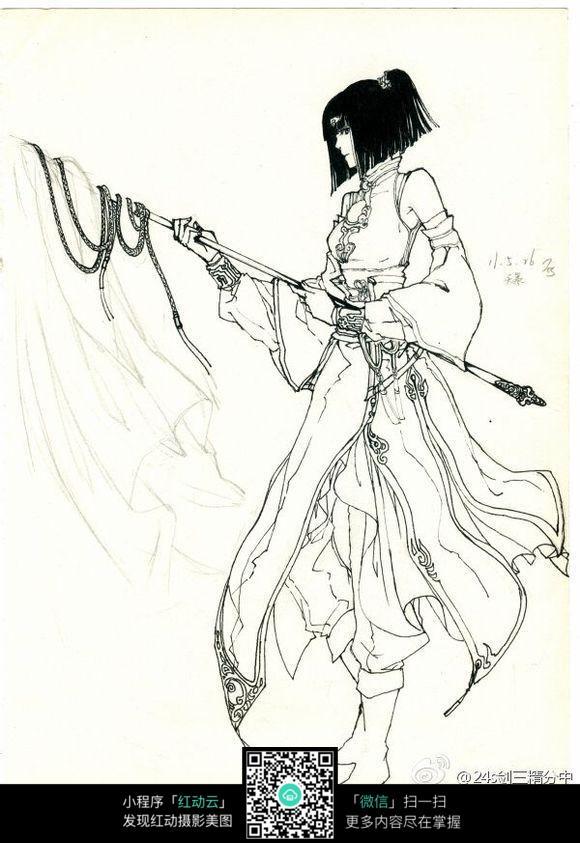 古典会武功的美女图片 人物卡通图片
