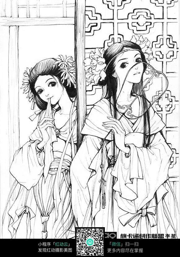 古典卡通美女图片 人物卡通图片