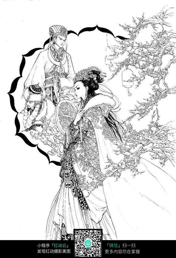三国演义人物手绘线描