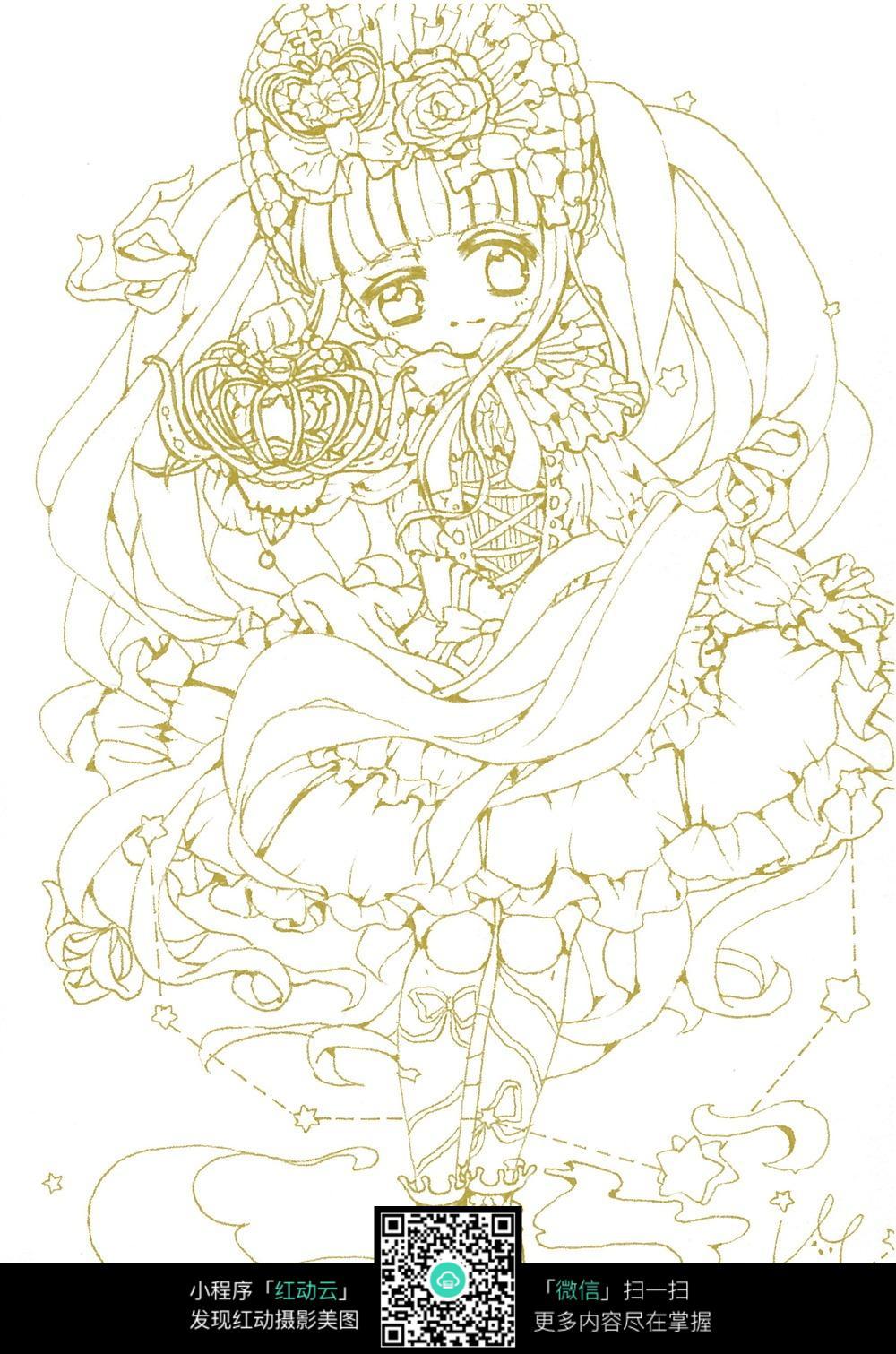 可爱小女孩花仙子图片
