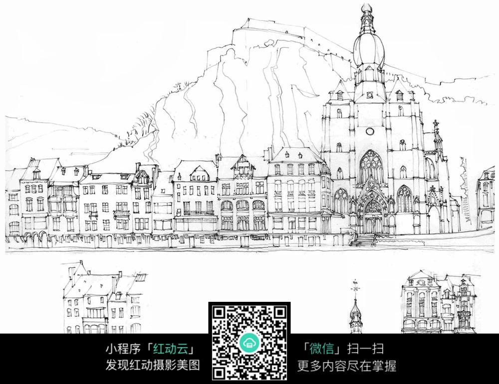 城市手绘图片简单