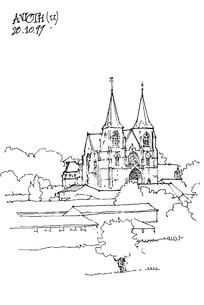 手绘教堂线稿图图片
