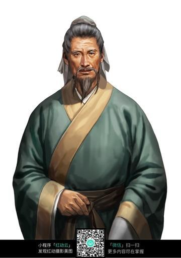 免费素材 图片素材 人物图片 其他人物 古装老爷爷手绘画像