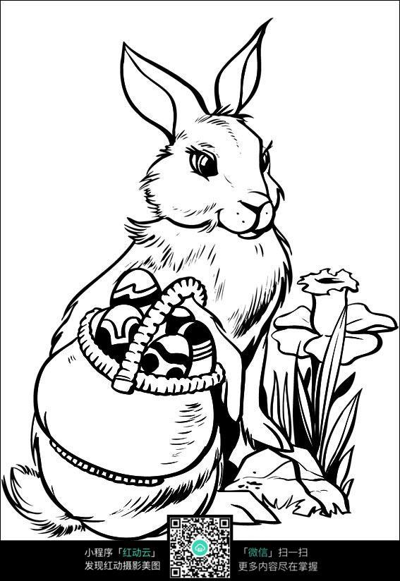 卡通可爱小动物送礼物