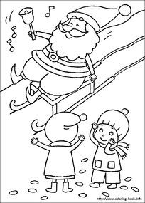 圣诞老人与麋鹿简笔画