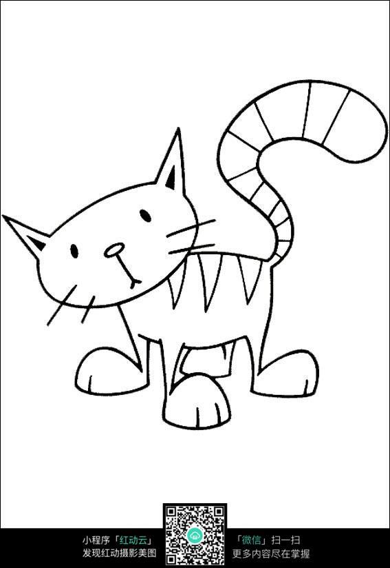 萌猫手绘线描图片免费下载 编号3715444 红动网
