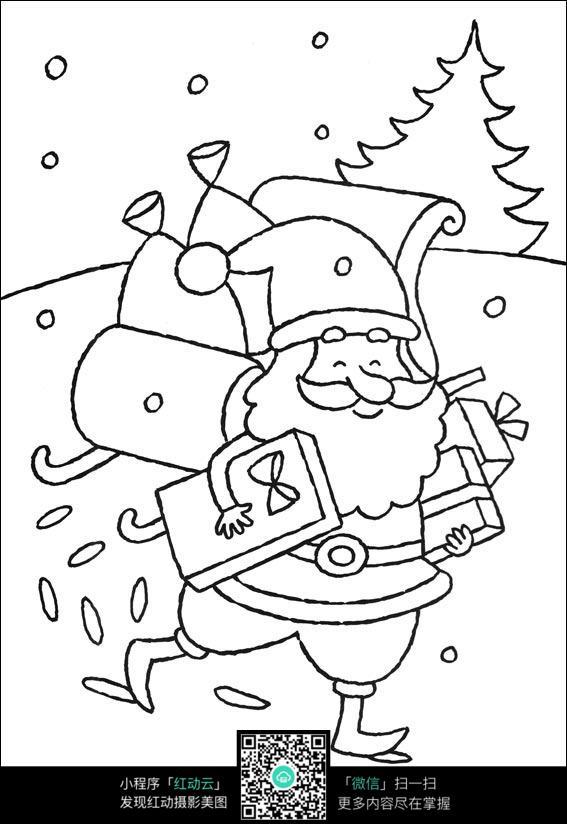 圣诞老人简笔画图片_人物卡通图片