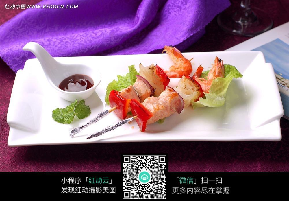 海鲜串烧图片_中华美食图片