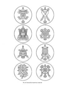 西藏佛教礼物线稿