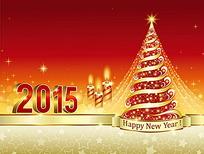 2015喜庆高档诞节卡片设计