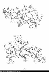 花朵花草刺绣图案素材图片