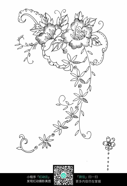 花朵花卉刺绣图案素材图片