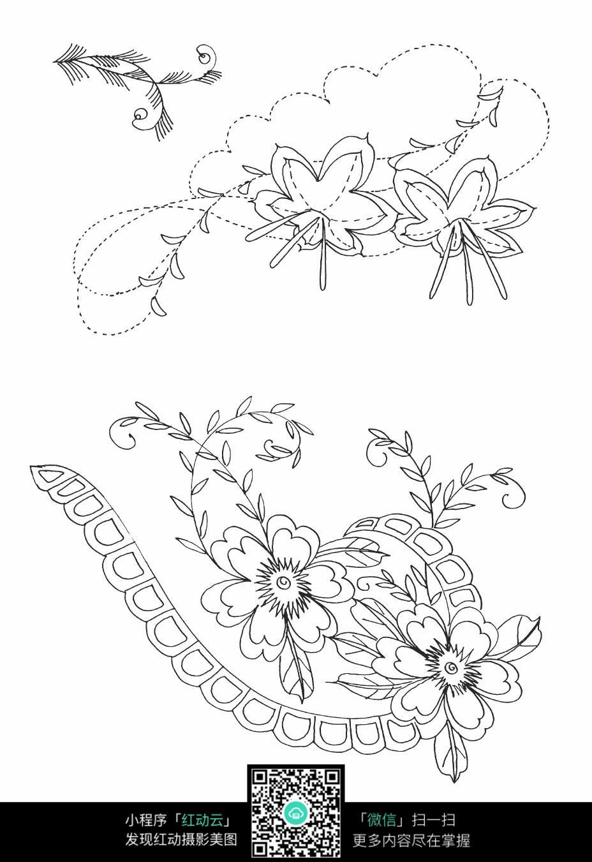 花朵花纹刺绣图案素材
