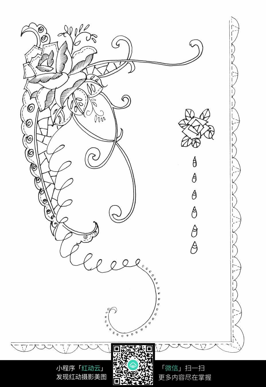 花朵藤蔓刺绣图案素材图片免费下载 编号3681058 红动网