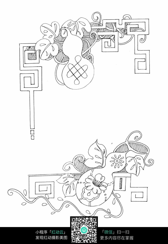 花朵藤蔓刺绣图案素材