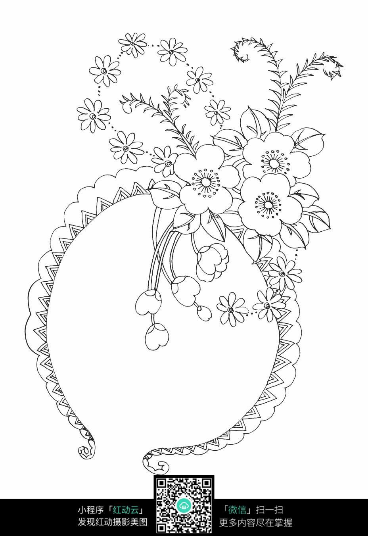 圆形的藤蔓简笔画